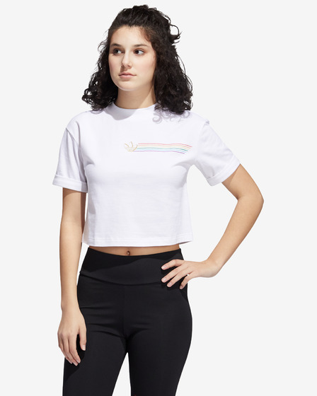 adidas Originals Pride Linear Cropped Тениска